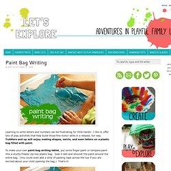 Paint Bag Writing