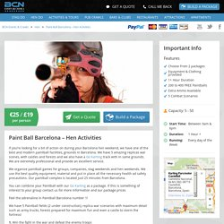 Paint Ball Barcelona – Hen Activities