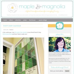 paint chip calendar | Maple and Magnolia