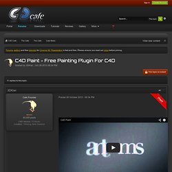 Example plugins for Cinema 4D