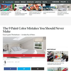 Paint Color Mistakes - Home Color Decorating Mistakes