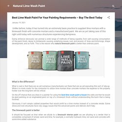 Best Lime Wash Paint For Your Painting Requirements – Buy The Best Today