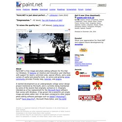 Paint.NET - Free Photo Editing Software for Windows