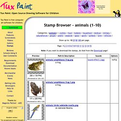 Tux Paint - Stamp Browser - animals (1-10)