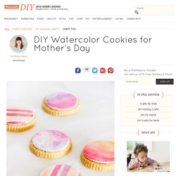 Paintable Watercolor Sugar Cookies