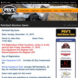 Paintball Missions Game « Pev's Paintball