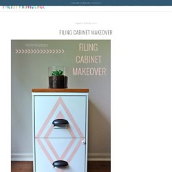 Painted Filing Cabinet Makeover