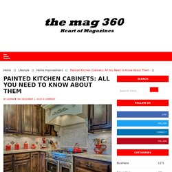 Painted Kitchen Cabinets: All You Need to Know About Them