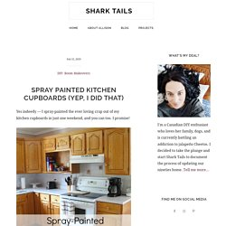 Spray Painted Kitchen Cupboards: A Complete How-To Shark Tails