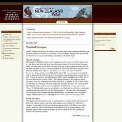 Te Ara Maori Painted Designs