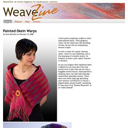 Painted-Skein Warps