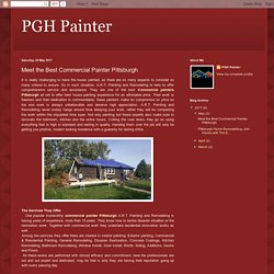 PGH Painter: Meet the Best Commercial Painter Pittsburgh