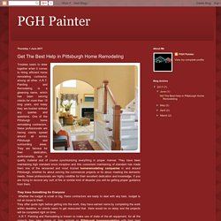PGH Painter: Get The Best Help in Pittsburgh Home Remodeling