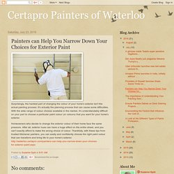 Painters can Help You Narrow Down Your Choices for Exterior Paint