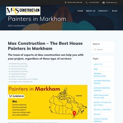 Painters in Markham - Commercial & Home Painting Service