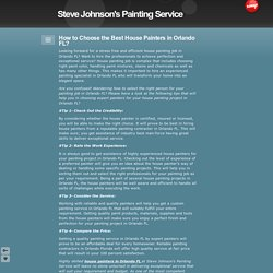 How to Choose the Best House Painters in Orlando, Florida?