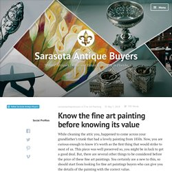 Know the fine art painting before knowing its value