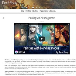 Painting with blending modes