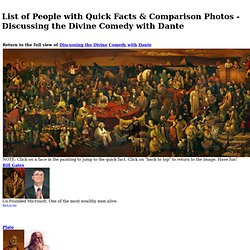 List of People in Painting w/ Quick Facts & Comparison Photos - Discussing the Divine Comedy with Dante