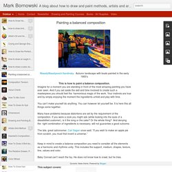 Mark Bornowski: Painting a balanced composition