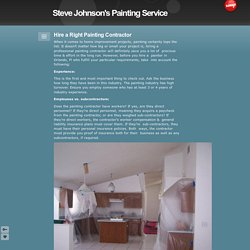 Hire a Right Painting Contractor - Steve Johnson's Painting Service