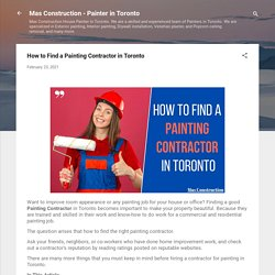 How to Find a Painting Contractor in Toronto