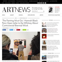 'The Painting Must Go': Hannah Black Pens Open Letter to the Whitney About Controversial Biennial Work