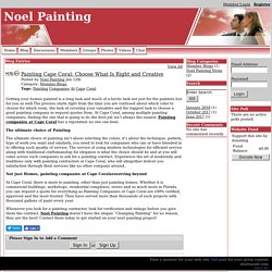 Noel Painting - Painting Cape Coral Choose What Is Right and Creative