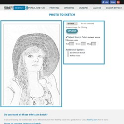 Online tool to create sketch, painting, drawing, outline effects