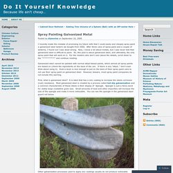 Spray Painting Galvanized Metal « Do It Yourself Knowledge