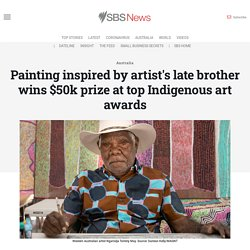 Painting inspired by artist's late brother wins $50k prize at top Indigenous art awards