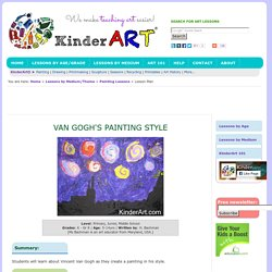 Van Gogh's Painting Style Lesson Plan: Painting for Kids