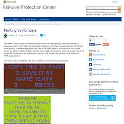 Painting by Numbers - Microsoft Malware Protection Center