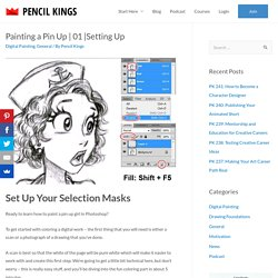 Painting a Pinup Girl in Photoshop | Pencil Kings