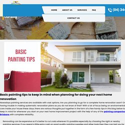 Basic painting tips to keep in mind when planning for doing your next home renovation