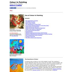 Colour in Painting: Theory, Practice, Pigments