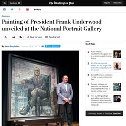 Painting of President Frank Underwood unveiled at the National Portrait Gallery