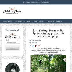 Easy Spring-Summer diy Spray painting projects to spruce things up. - Debbiedoos