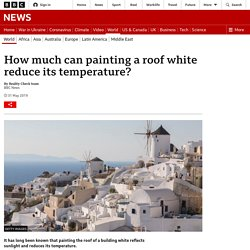 *****Adaptation or mitigation? How much can painting a roof white reduce its temperature?