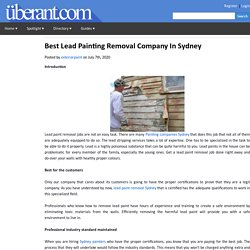 Best Lead Painting Removal Company In Sydney