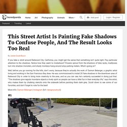 This Street Artist Is Painting Fake Shadows To Confuse People, And The Result Looks Too Real