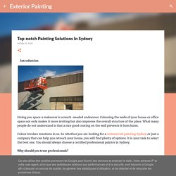 Top-notch Painting Solutions In Sydney