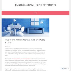 Total Colour Painting and Wallpaper Specialists in sydney