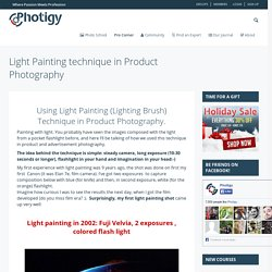 Light Painting technique in Product Photography