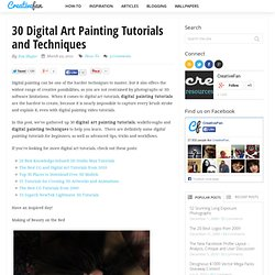 30 Digital Art Painting Tutorials and Techniques