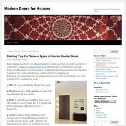 Painting Tips For Various Types of Interior Double Doors