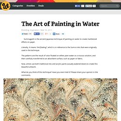 The Art of Painting in Water