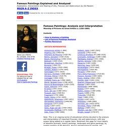 Famous Paintings, Analysis, Interpretation