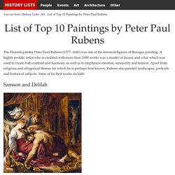 List of Top 10 Paintings by Peter Paul Rubens - History Lists