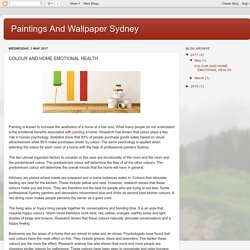 Paintings And Wallpaper Sydney: COLOUR AND HOME EMOTIONAL HEALTH